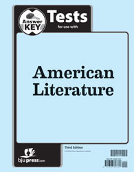 American Literature Tests Answer Key (3rd ed.)