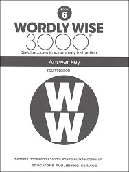 Wordly Wise 3000 Grade 6 Key 4th Edition