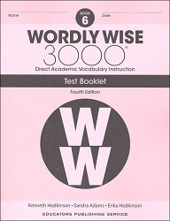Wordly Wise 3000 Grade 6 Tests 4th Edition