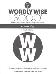 Wordly Wise 3000 Grade 7 Key 4th Edition