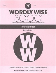 Wordly Wise 3000 Grade 7 Tests 4th Edition