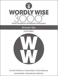 Wordly Wise 3000 Grade 8 Key 4th Edition