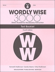 Wordly Wise 3000 Grade 8 Tests 4th Edition
