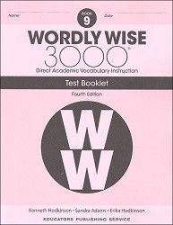 Wordly Wise 3000 Grade 9 Tests 4th Edition