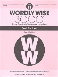 Wordly Wise 3000 Grade 11 Tests 4th Edition