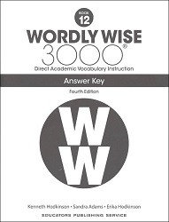 Wordly Wise 3000 Grade 12 Key 4th Edition