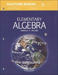 Jacob's Elementary Algebra Solutions Manual