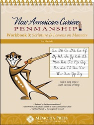 New American Cursive 3: Scripture & Lessons on Manners