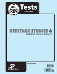 Heritage Studies Grade 6 Test Answer Key  4th Edition