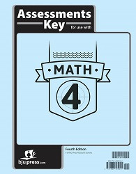 Math 4  Assessment Key (4th Edition)