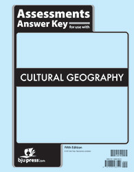 Cultural Geography  Assessments Answer Key  5th Edition