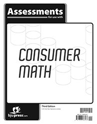 Consumer Math  Assessments  3rd Edition