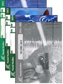 School of Tomorrow / ACE Social Studies Grade 5 Second Quarter 1052-1054 w/Key (4th Edition)