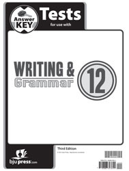 Writing and Grammar 12 Tests Answer Key (3rd edition)