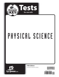 Physical Science Tests Answer Key (5th ed.)