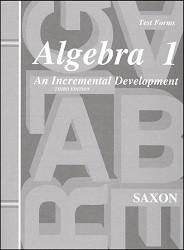 Saxon Math Algebra 1 Test Booklet (3rd Edition)