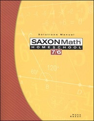 Saxon Math 7/6 Solution Manual (4th Edition)