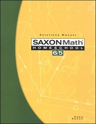 Saxon Math 6/5 Solution Manual (3rd Edition)