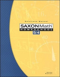 Saxon Math 5/4 Solution Manual (3rd Edition)