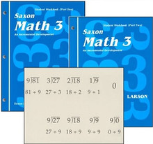 Saxon Math 3 Workbooks (1st Edition)