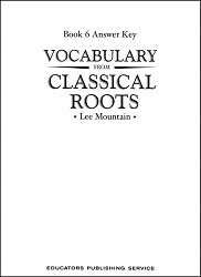 Vocabulary from Classical Roots 6 Key