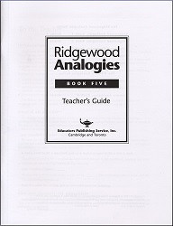Ridgewood Analogies Book 5 Key