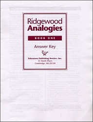 Ridgewood Analogies Book 1 Key