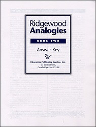 Ridgewood Analogies Book 2 Key