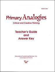 Primary Analogies Book 1 Key
