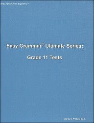 Easy Grammar Ultimate Series Grade 11 Tests