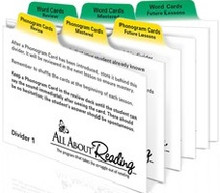 All About Reading Divider Cards