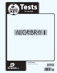 Algebra 1 Test Answer Key (3rd Ed.)
