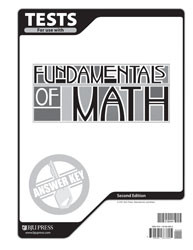 Fundamentals of Math Test Answer Key (2nd Ed.)