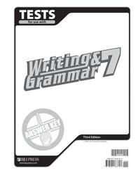 Writing and Grammar 7 Test Answer Key (3rd Ed.)