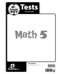 Math 5 Test Answer Key (3rd Ed.)