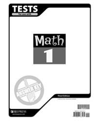 Math 1 Test Answer Key (3rd Ed.)