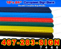 25 Coroplast YELLOW Corrugated Yard Sign 18x24 Blanks (( FREE SHIPPING ))