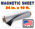 "Blank Magnetic Sign Sheet 30 Mil. 24"" width x 10  ft ROLL"