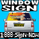 Perforated Window Graphic for Vehicle - PRINT & SHIP