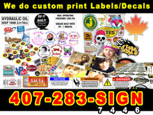 "Custom Print Full Color Decal on 18""x24"" media."