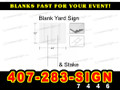 "Yard Sign Blank WHITE 18"" x 24"" with stake LOCAL PICKUP"