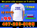 T-shirts WHITE Custom Printing 1 Color 1 Location 12PC PACK LOCAL PICKUP or FREE SHIPPING