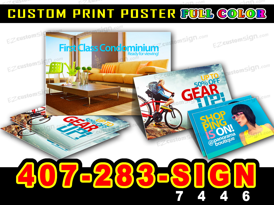 """12x24/"""" GLOSSY Custom Printed your Photo Poster Image Enlargement"""