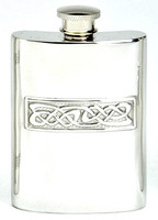 Pewter Hip Flask - Celtic Casting, 4 oz