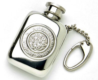 Pewter Key Ring - Miniature Flask, 1.5oz
