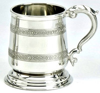 Pewter Tankard - Two Celtic Bands