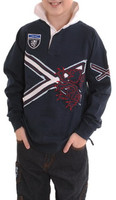Children's Embroidered Lion and Saltire Shirt