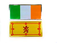Metallic Flag Bumper Stickers
