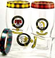 Clan Crest Beer Glasses