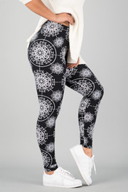Pattern Print Leggings || 3